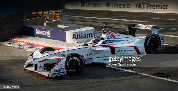 Neel Jani of Switzerland from DRAGON competes in the FIA Formula E Hong Kong E-Prix Round 1 at the Central Harbourfront Circuit on 02 December 2017...