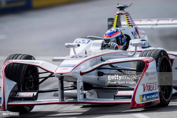 Neel Jani of Switzerland from DRAGON competes in the Formula E Qualifying Session 1 during Formula E on December 2, 2017 in Hong Kong, Hong Kong.