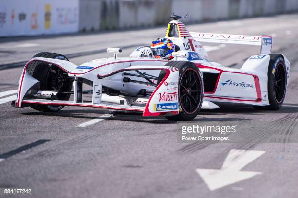 Neel Jani of Switzerland from DRAGON competes in the Formula E Non-Qualifying Practice 2 during Formula E on December 2, 2017 in Hong Kong, Hong Kong.