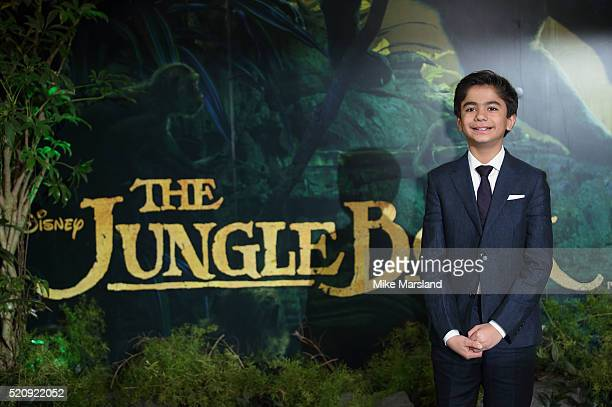 Neel Sethi arrives for the European premiere of The Jungle Book at BFI IMAX on April 13 2016 in London England