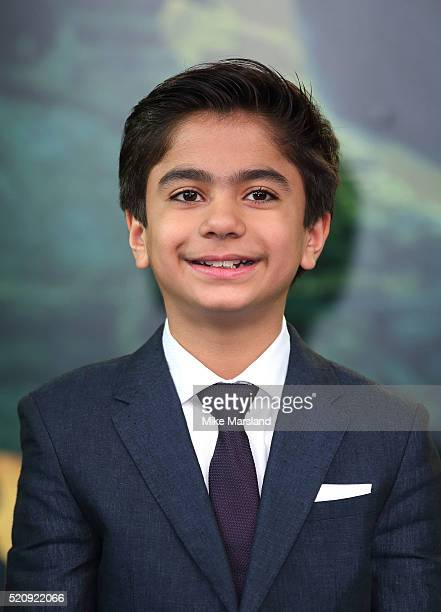 Neel Sethi arrives for the European premiere of 'The Jungle Book' at BFI IMAX on April 13 2016 in London England