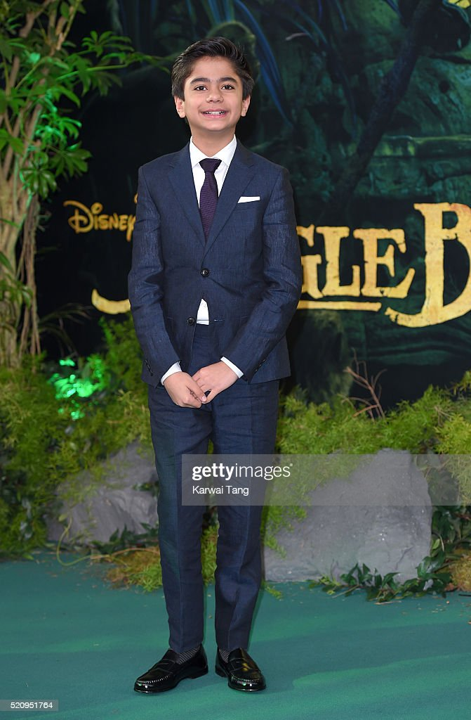 Neel Sethi arrives for the European premiere of 'The Jungle Book' at BFI IMAX on April 13, 2016 in London, England.