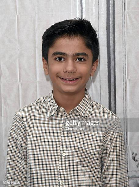 Neel Sethi attends AOL Build to discuss his starring role as Mowgli in Jon Favreau's retelling of 'The Jungle Book' at AOL HQ on August 30 2016 in...