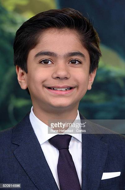 Neel Sethi attends the premiere of The Jungle Book at BFI IMAX on April 13 2016 in London England