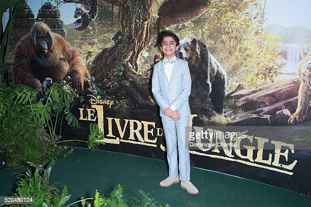 Neel Sethi attends the 'The Jungle Book' Paris Premiere at Cinema Pathe Beaugrenelle on April 11 2016 in Paris France