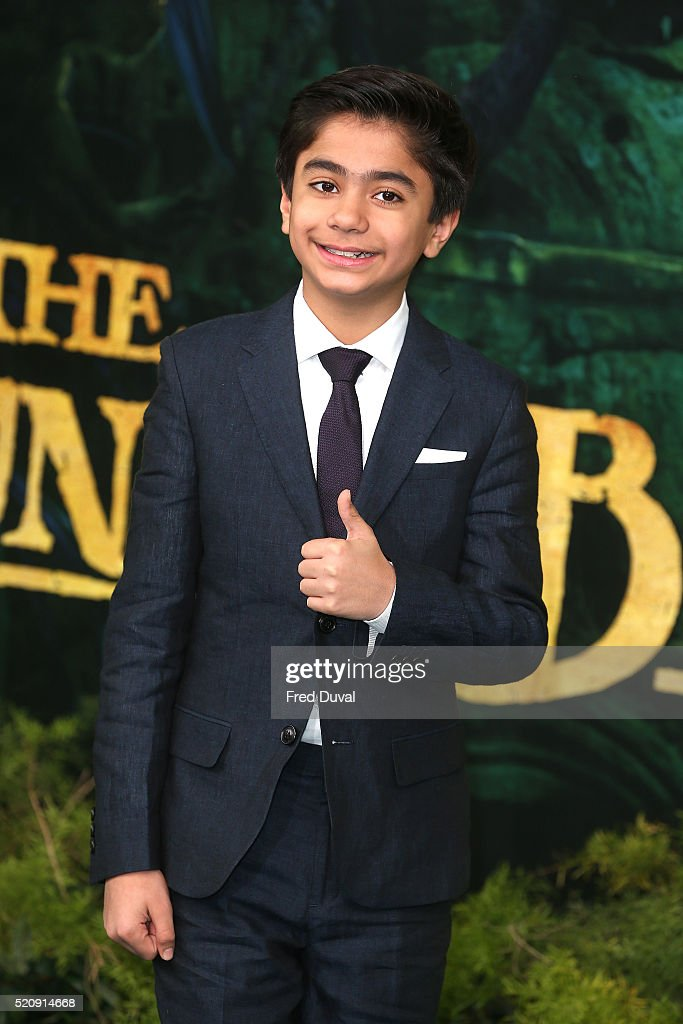 Neel Sethi attends the UK Premiere of 'The Jungle Book'at BFI IMAX on April 13, 2016 in London, England.