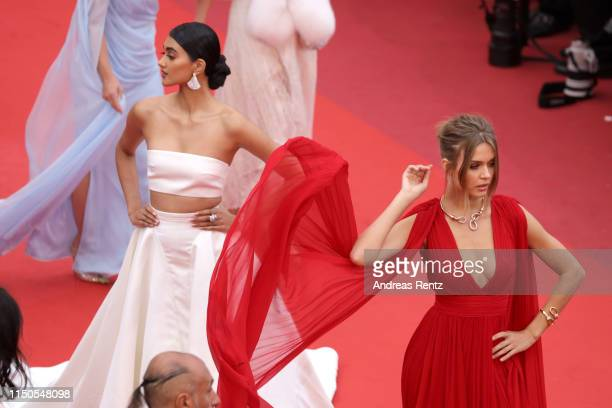 Neelam Gill and Josephine Skriver attend the screening of La Belle Epoque during the 72nd annual Cannes Film Festival on May 20 2019 in Cannes France