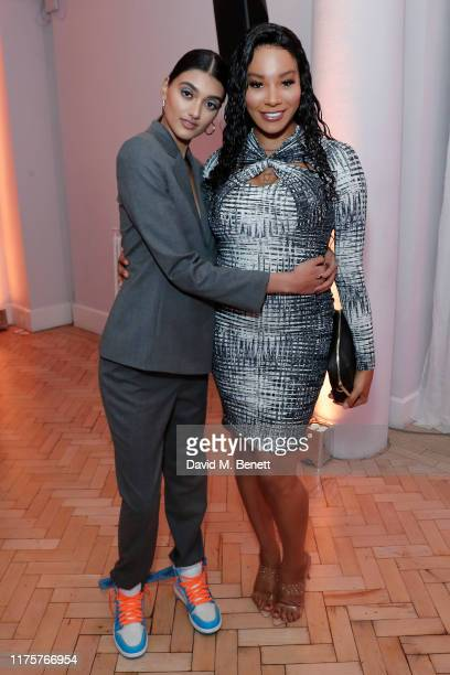 Neelam Gill and Munroe Bergdorf attend the Marie Claire Future Shapers Awards in partnership with Neutrogena at One Marylebone on September 19 2019...