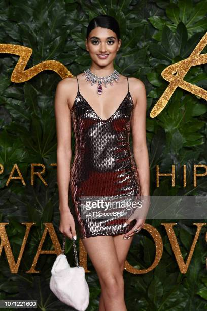 Neelam Gill arrives at The Fashion Awards 2018 In Partnership With Swarovski at Royal Albert Hall on December 10 2018 in London England