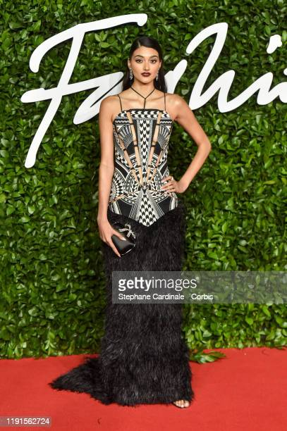 Neelam Gill arrives at The Fashion Awards 2019 held at Royal Albert Hall on December 02 2019 in London England