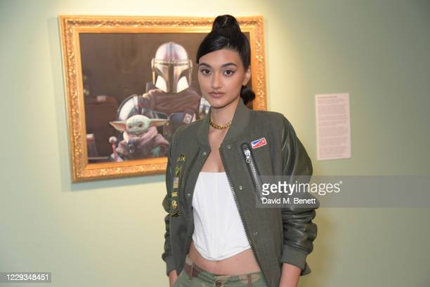 """Neelam Gill attends a private view of """"The Mandalorian And The Child"""", a special portrait being unveiled in collaboration with the National Portrait..."""