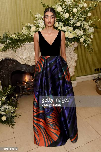 Neelam Gill attends the British Vogue and Tiffany Co Fashion and Film Party at Annabel's on February 2 2020 in London England