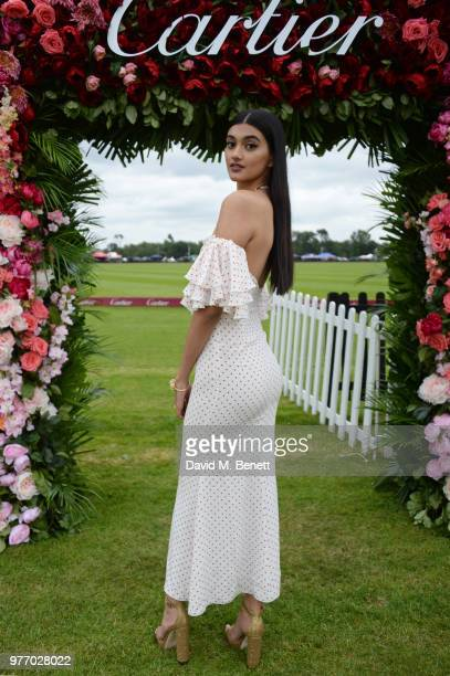 Neelam Gill attends the Cartier Queen's Cup Polo Final at Guards Polo Club on June 17 2018 in Egham England
