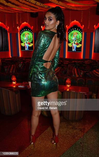 Neelam Gill attends the LOVE Magazine 10th birthday party with PerrierJouet at Loulou's on September 17 2018 in London England