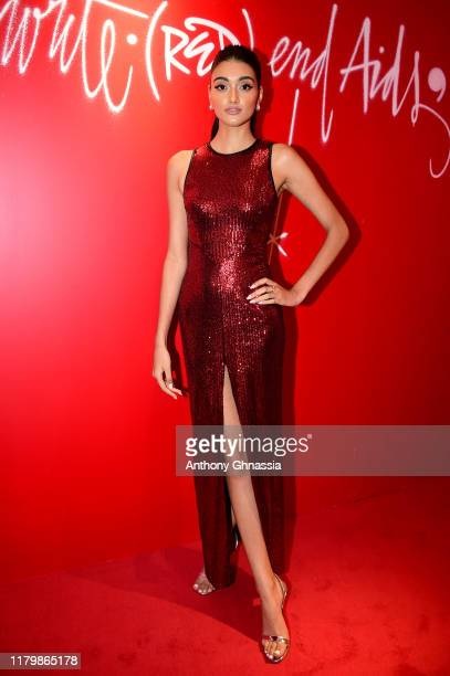 Neelam Gill attends the Montblanc: Launch event cocktail at the Boutique Champs-Elysees on October 08, 2019 in Paris, France.