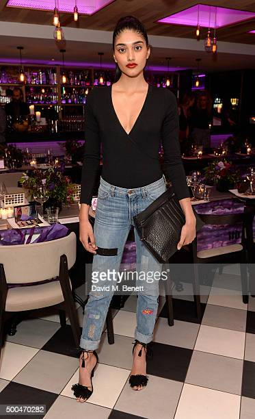 Neelam Gill attends the Urban Decay x Gwen VIP dinner at Hotel Chantelle on December 8 2015 in London England