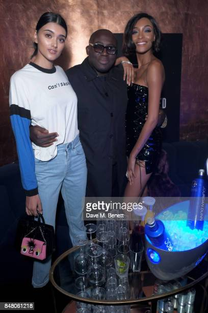 Neelam Gill Edward Enninful and Jourdan Dunn attend LON DUNN x Missguided Official Launch Party Hosted by Jourdan Dunn at The London Reign on...