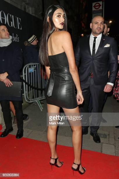 Neelam Gill seen at the Vogue and Tiffany Co party at Annabel's club after attending the EE British Academy Film Awards at the Royal Albert Hall on...