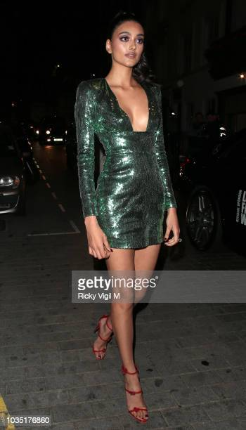 Neelam Gill seen attending LOVE Magazine party at No 5 Hertford Street during London Fashion Week September 2018 on September 17 2018 in London...