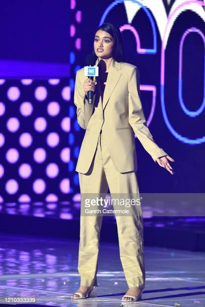 Neelam Gill speaks on stage during WE Day UK 2020 at The SSE Arena Wembley on March 04 2020 in London England
