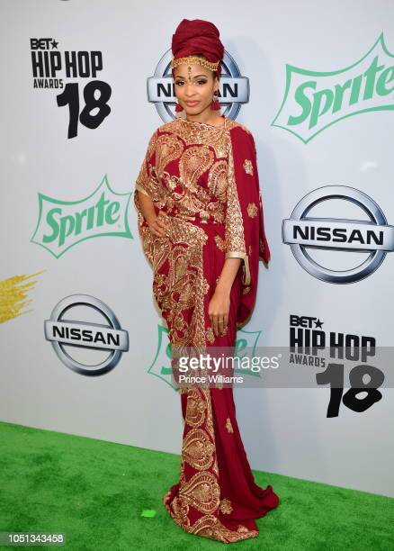 Neelam Hakeem arrives at the BET Hip Hop Awards 2018 at Fillmore Miami Beach on October 6 2018 in Miami Beach Florida
