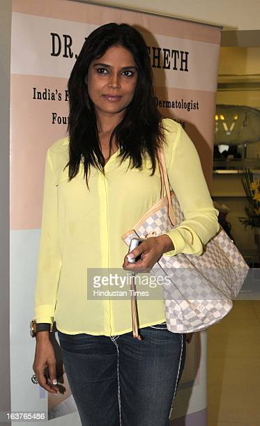 Neelam Roy wife of Bollywood actor Ronit Roy poses during the celebration of Dr Rekha Sheth's Maria Duran Lectureship award at Juhu on March 13 2013...
