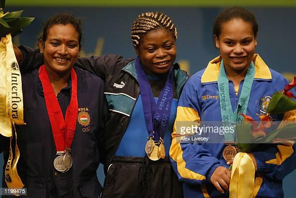 Neelam Sethi Laxmi of India wins Silver Madeleine Yamechi of Cameroon wins Gold and Sixteen year old Sheba Deireragea of Nauru wins Bronze for the...