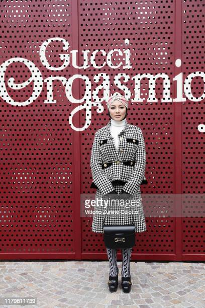 Neelofa arrives at the Gucci show during Milan Fashion Week Spring/Summer 2020 on September 22 2019 in Milan Italy