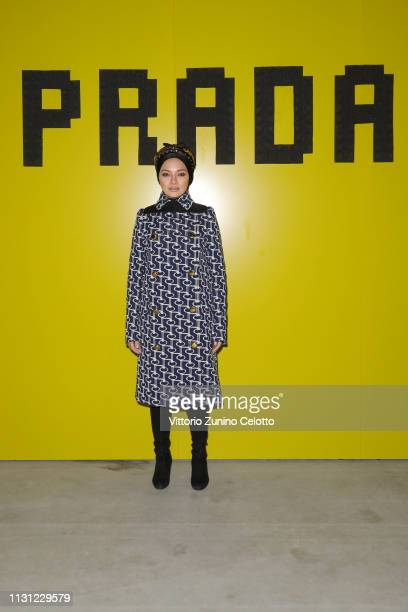 Neelofa attends the Prada Show during Milan Fashion Week Fall/Winter 2019/20 on February 21 2019 in Milan Italy
