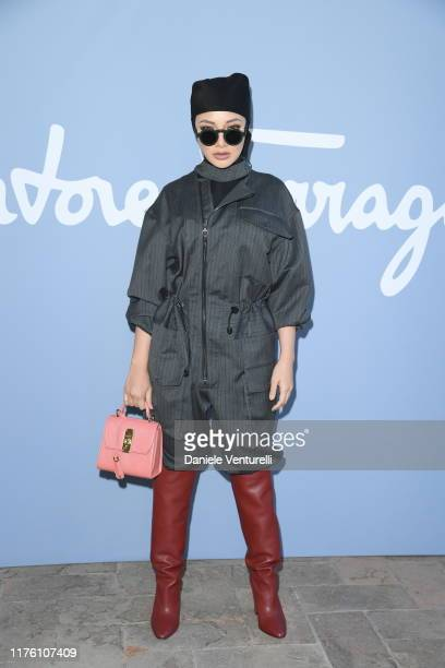 Neelofa attends the Salvatore Ferragamo show during Milan Fashion Week Spring/Summer 2020 on September 21 2019 in Milan Italy