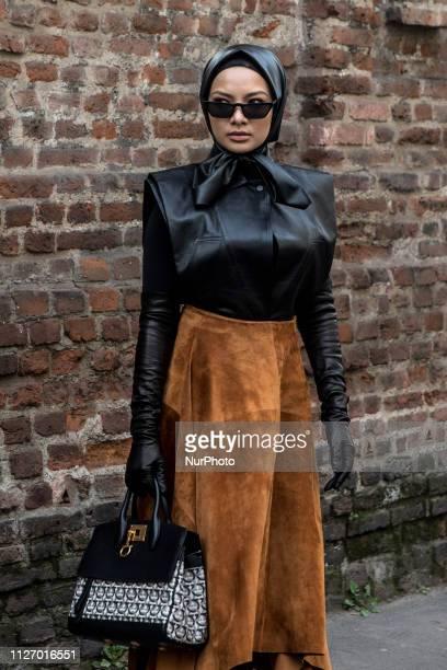 Neelofa is seen on Day 4 Milan Fashion Week Autumn/Winter 2019/20 on February 23 2019 in Milan Italy