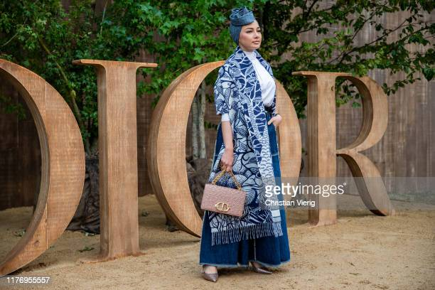 Neelofa Mohd Noor is seen outside the Dior show during Paris Fashion Week Womenswear Spring Summer 2020 on September 24 2019 in Paris France