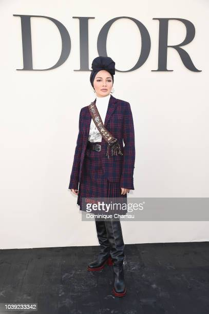 Neelofa Noor attends the Christian Dior show as part of the Paris Fashion Week Womenswear Spring/Summer 2019 on September 24 2018 in Paris France