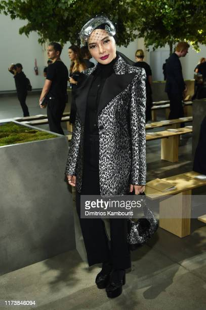 Neelofa poses backstage during the Michael Kors Collection Spring 2020 Runway Show on September 11 2019 in Brooklyn City