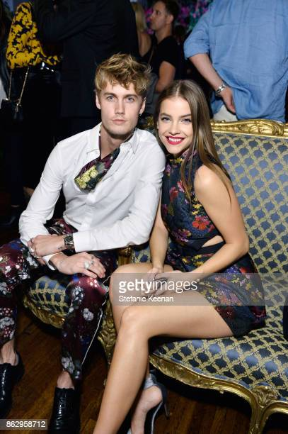 Neels Visser and Barbara Palvin at HM x ERDEM Runway Show Party at The Ebell Club of Los Angeles on October 18 2017 in Los Angeles California