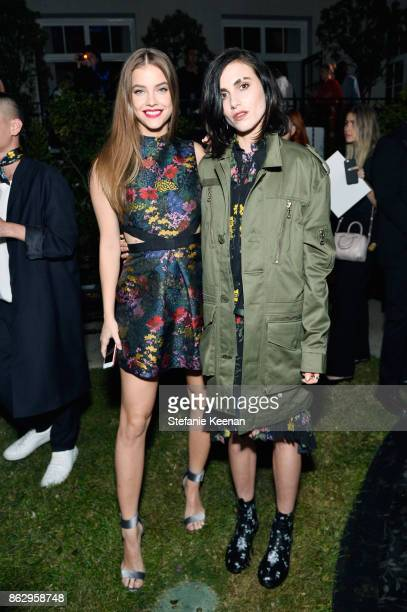 Neels Visser and Langley Fox Hemingway at HM x ERDEM Runway Show Party at The Ebell Club of Los Angeles on October 18 2017 in Los Angeles California