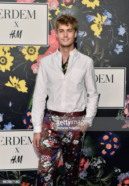 Neels Visser at HM x ERDEM Runway Show Party at The Ebell Club of Los Angeles on October 18 2017 in Los Angeles California