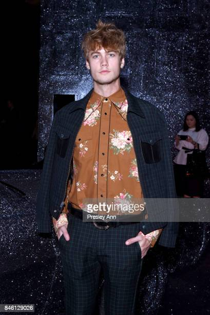 Neels Visser attends Coach Spring 2018 fashion show during New York Fashion Week at Basketball City Pier 36 South Street on September 12 2017 in New...