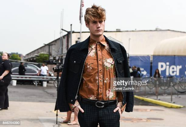 Neels Visser is seen outside the Coach show during New York Fashion Week Women's S/S 2018 on September 12 2017 in New York City