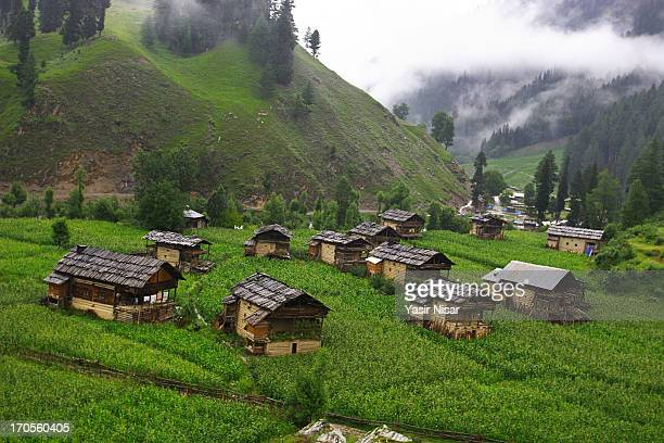 neelum valley, kashmir - kashmir stock photos and pictures