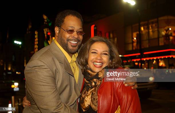 Neema Barnette who directed Civil Band and her husband Reed R McCants who palyed Warden Nelson in the film arrivefor the screening of Civil Band...