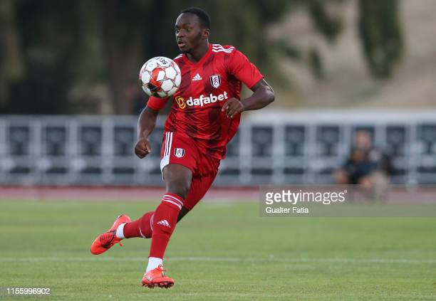 Neeskens Kebano of Fulham FC in action during the Pre-Season Friendly match between FC Porto and Fulham FC at Estadio Municipal de Albufeira on July...