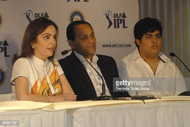 Neeta Ambani of Mumbai Indians at the Indian Premier League's third auction in Mumbai on 19th January 2010