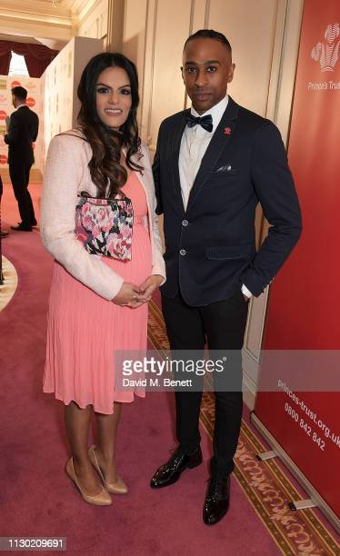 Neev Spencer and AJ King attend The Prince's Trust TKMaxx and Homesense Awards at The London Palladium on March 13 2019 in London England