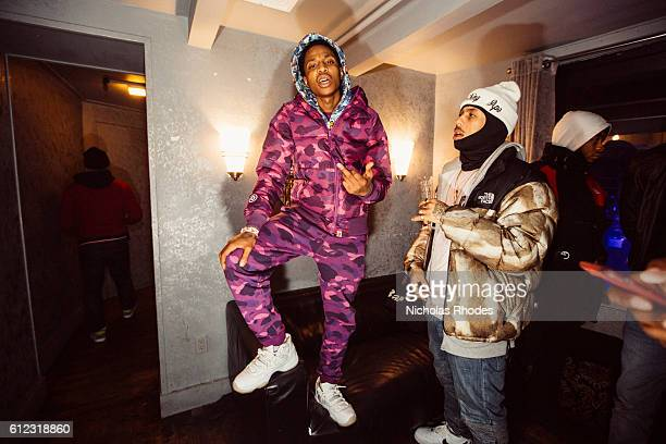 Nef the Pharoah backstage portraits at House Party NYC at Webster Hall on January 21 2015
