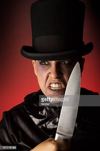 nefarious character - jack the ripper stock photos and pictures
