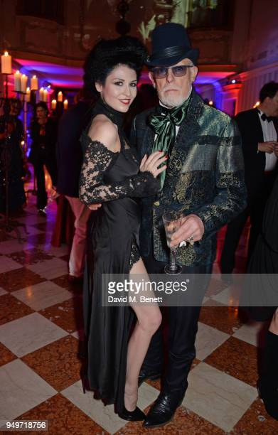 Nefer Suvio and Antony Price attend a party to celebrate Nefer Suvio's birthday hosted by The Count and Countess Francesco Chiara Dona Dalle Rose at...