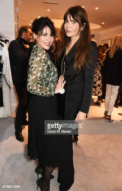 Nefer Suvio and Carla Maria Orsi Carbone attend the 29 Lowndes store launch on May 4 2017 in London England