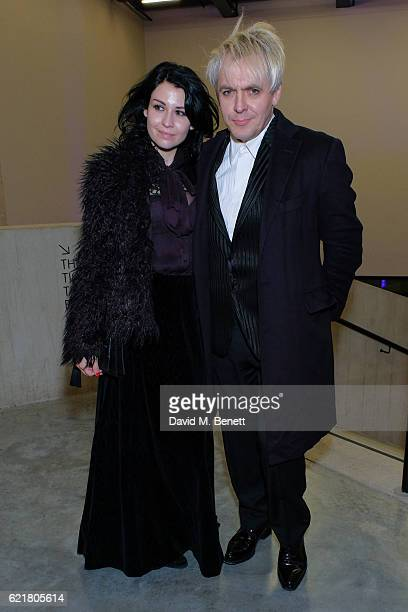 Nefer Suvio and Nick Rhodes arrive at the opening reception for new exhibition 'The Radical Eye Modernist Photography From The Sir Elton John...