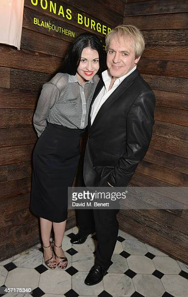 Nefer Suvio and Nick Rhodes attend the Blain|Southern Vinyl Factory private party to celebrate the release of Jonas Burgert's limited edition record...